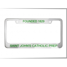 Chrome Plated Plastic License Plate Frame w/ Wide Bottom Engraving